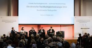Die Auftaktveranstaltung zum Nachhaltigkeitsdialog fand am 29. Oktober 2015 in Berlin statt.